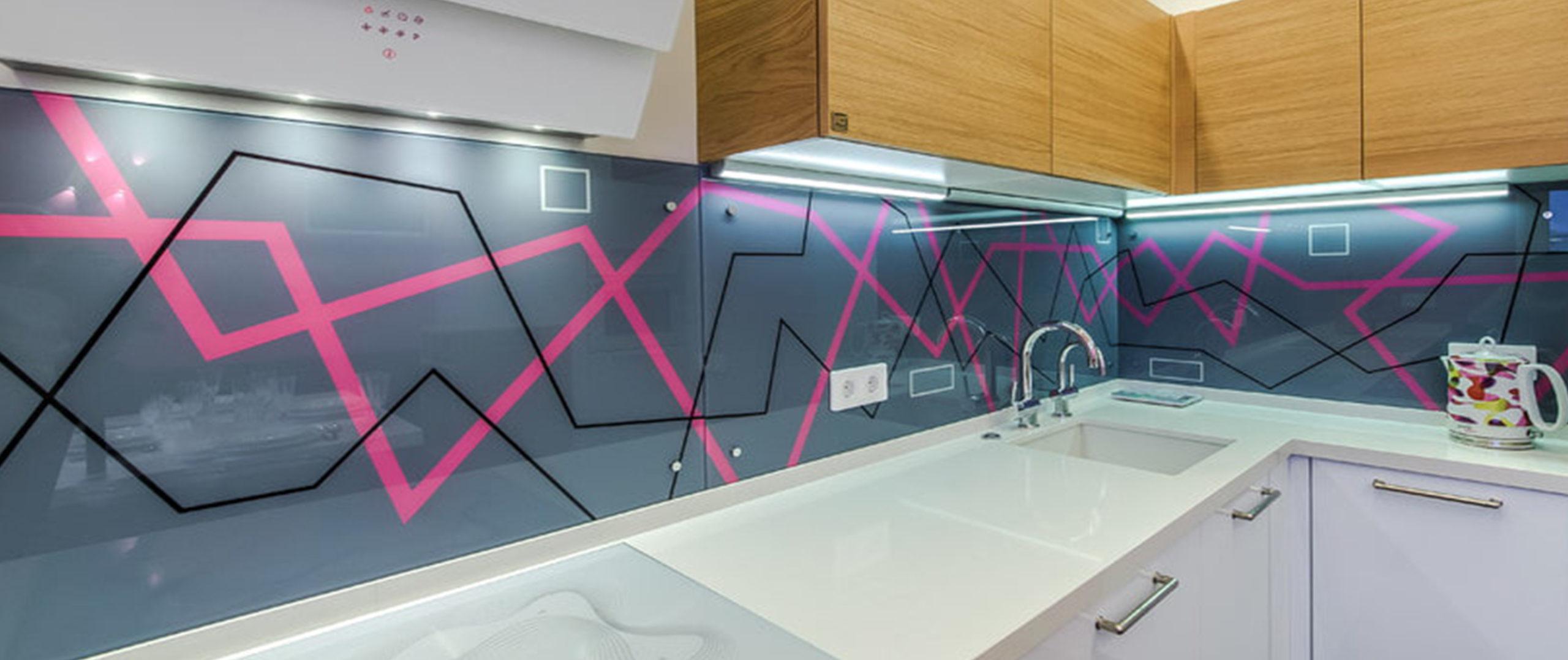 Кухонный фартук — Абстракции и граффити