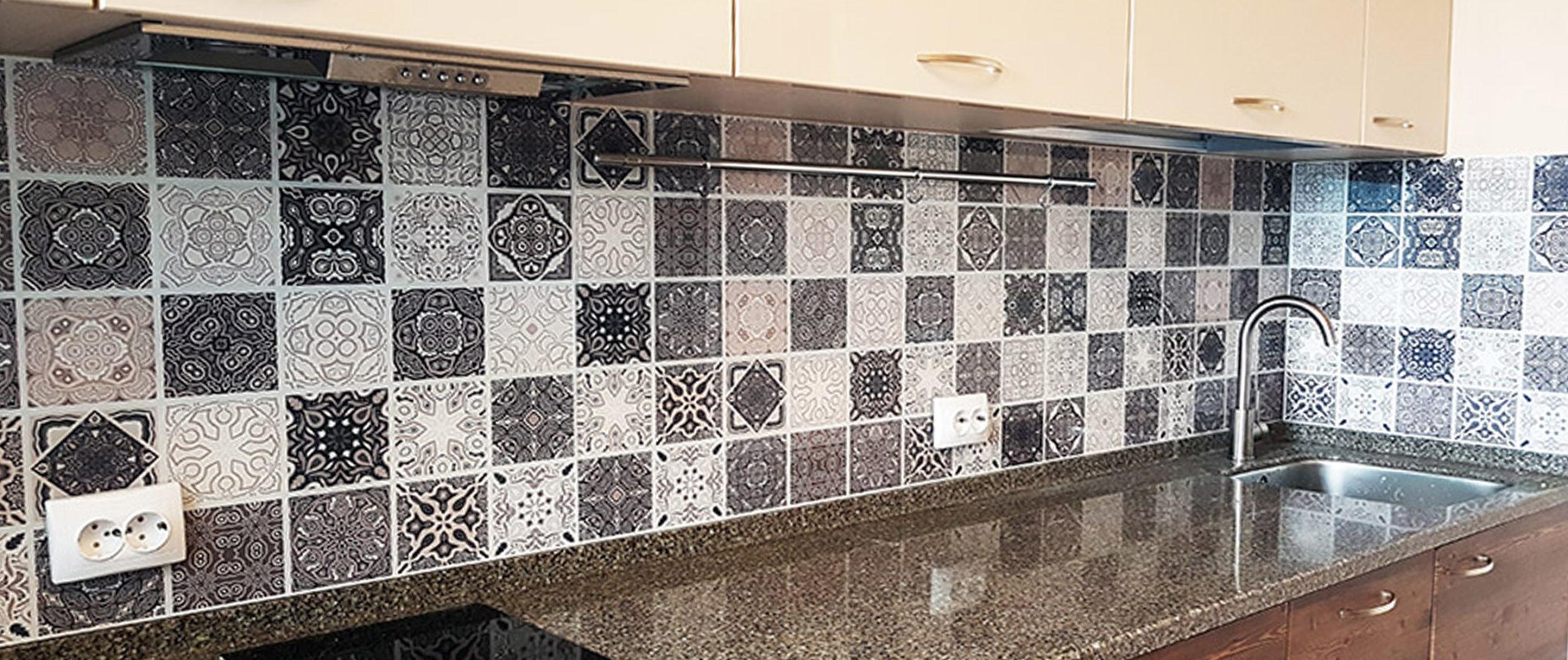 Кухонный фартук — С изображения плитки